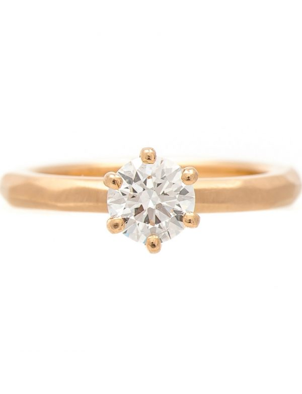 Faceted Ring – Solitaire Diamond