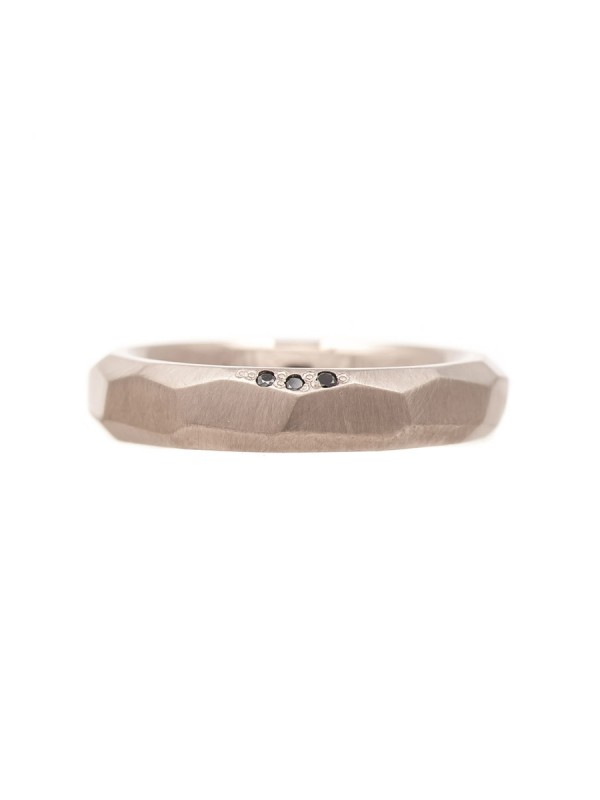 Faceted Men's Wedding band
