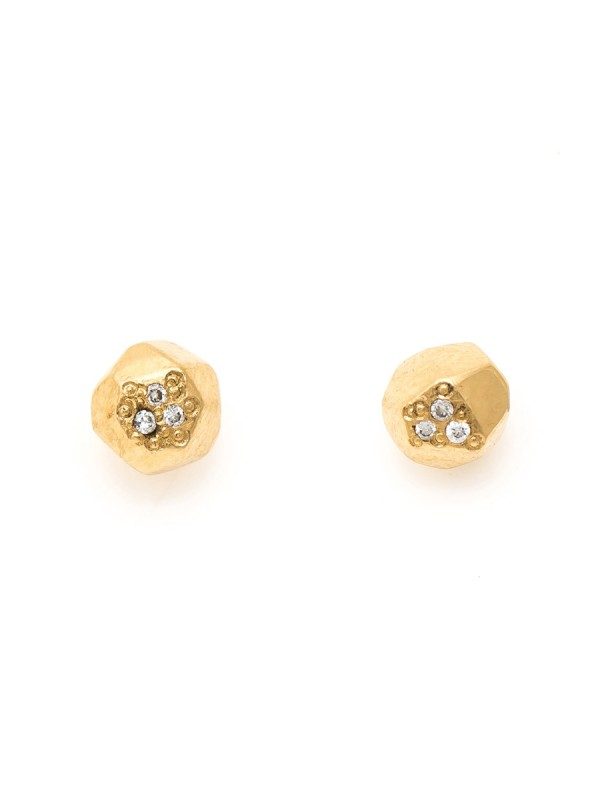 Gem Studs – Gold & Diamond