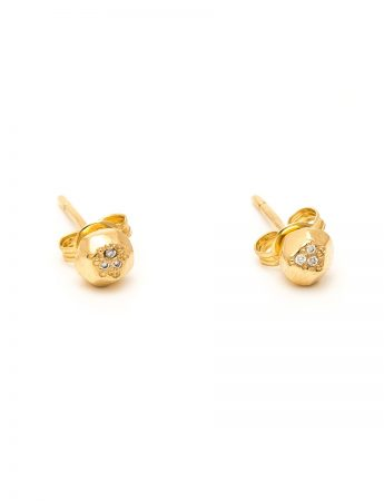 Gem Studs - Gold & Diamond