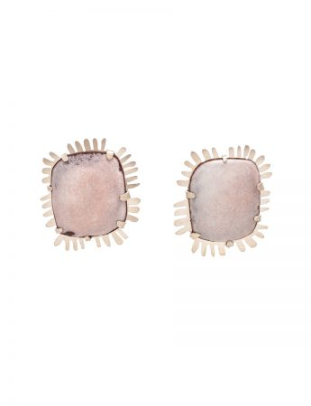 Enamelled Earrings – Light Pink