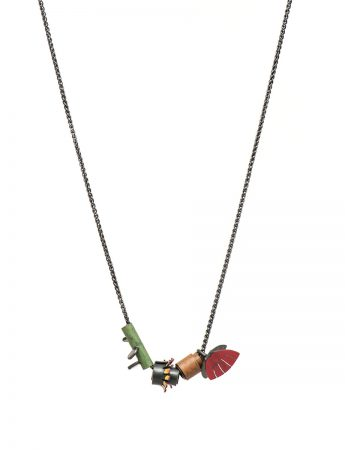 Bouquet Necklace - Eucalyptus Leaf & Flower, Bottle Brush, Nut