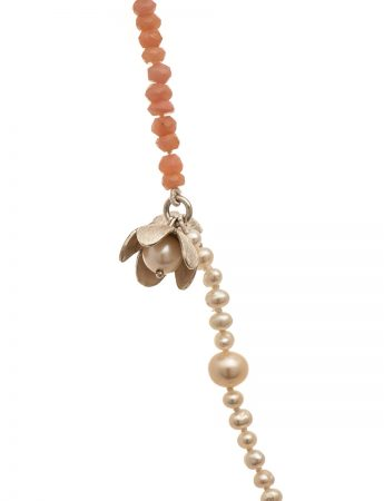 Pink Opal and Freshwater Pearl Necklace