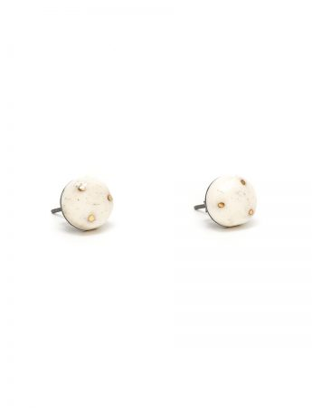 Bone and Gold earrings