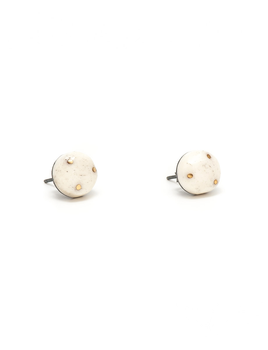 Bone & Gold Earrings