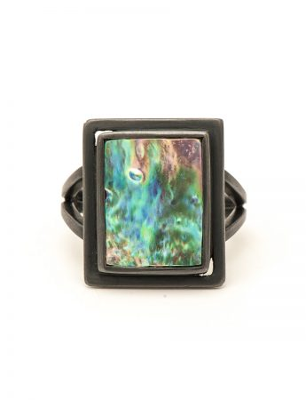 Paua dress ring