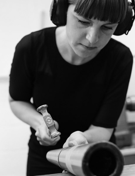Phoebe Porter working in her studio