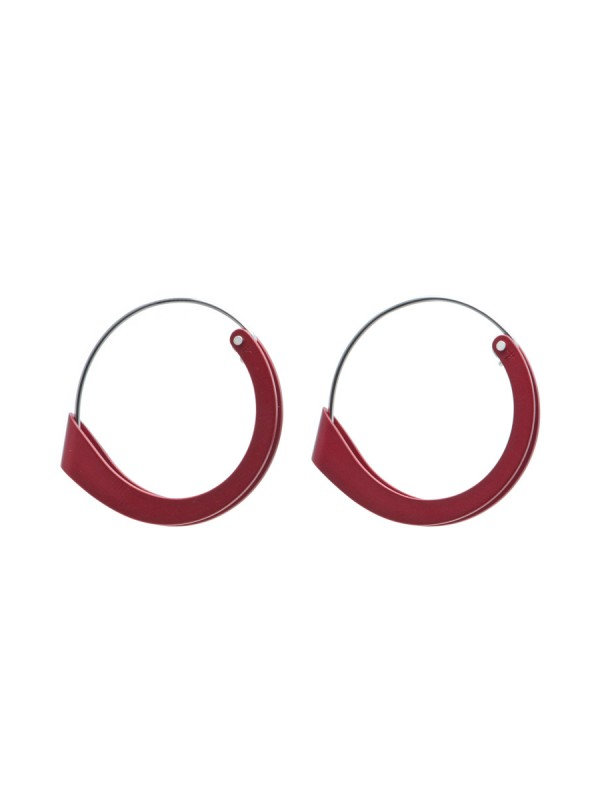 Folded Earrings – Red