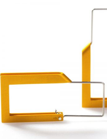 Constructivist Earrings - Yellow