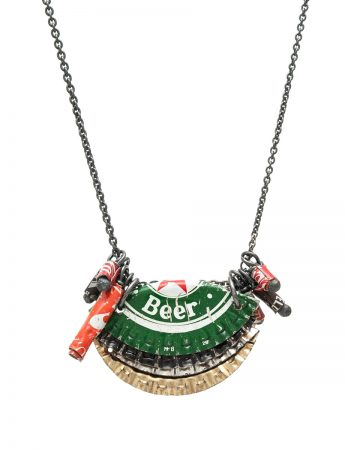 Beer Lid Pendant Necklace