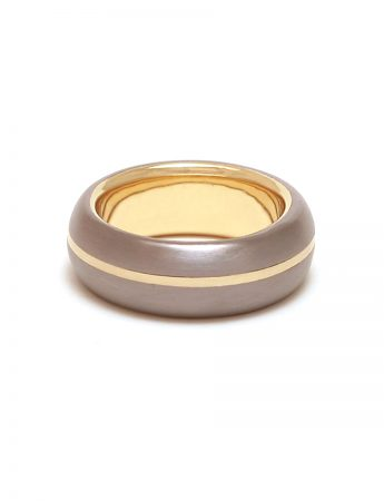 Stripe Ring – Tantalum & Gold
