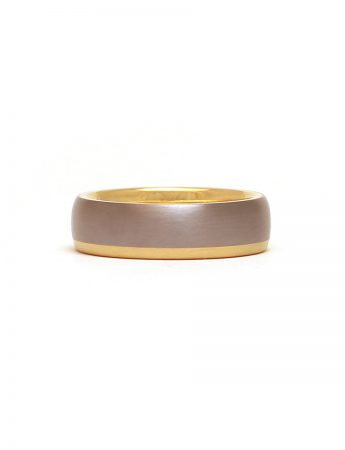 Gold Stripe Tantalum Ring