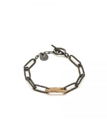 Lost Links Bracelet - Oxidised Silver & Gold