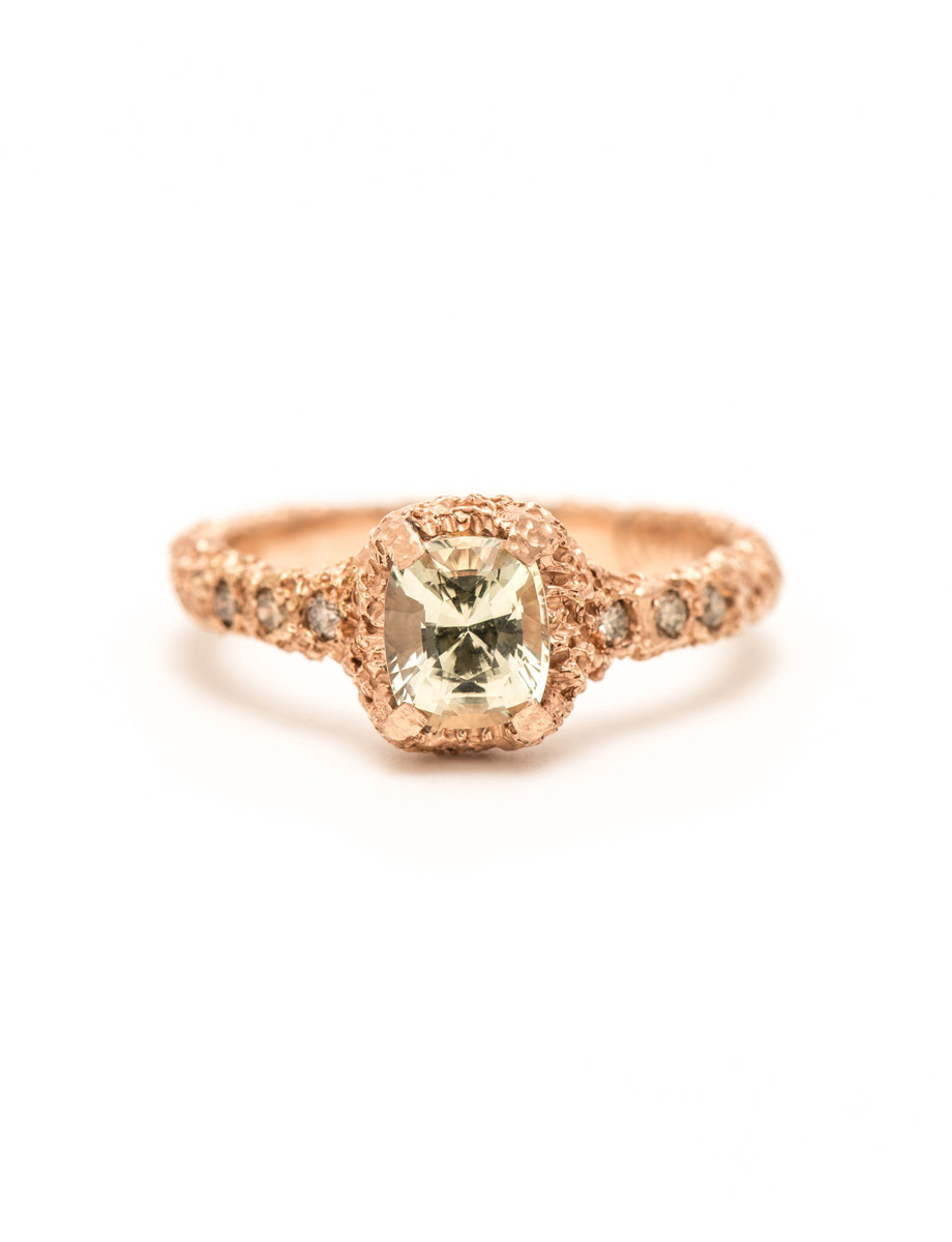 Champagne Sapphire Ring