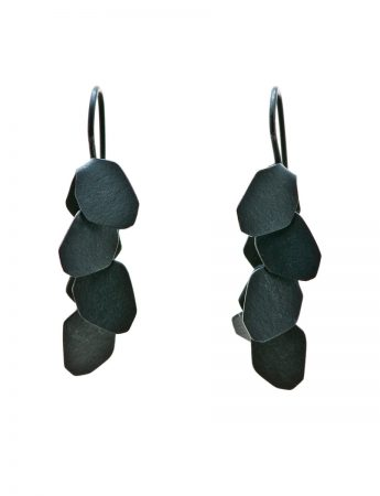 Wisteria 4 Drop Earrings - Oxidised Silver