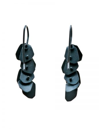 Wisteria Earrings - Long Oxidised