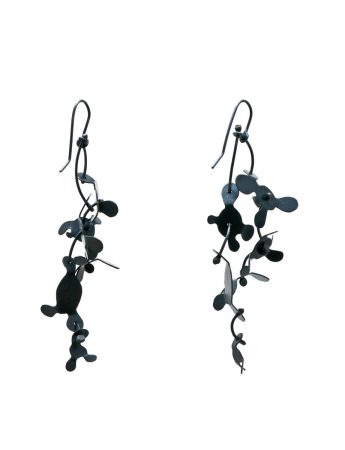 Botanical Earrings - Oxidised Silver