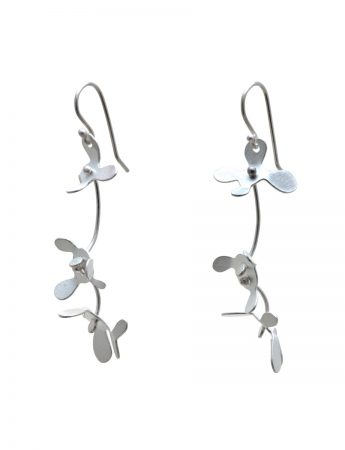 Medium Botanical Earrings - Silver