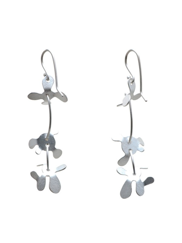 Medium Botanical Earrings – Silver