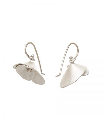 Orchid Hook Earrings - Silver