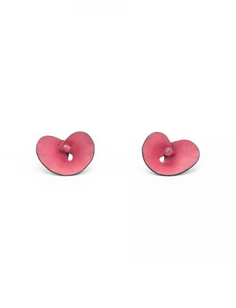 Orchid Stud Earrings - Pink