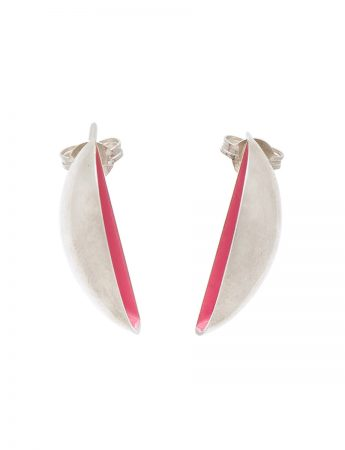Half Shell Earrings - Pink