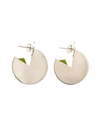 Silver Horizon Earrings - Green