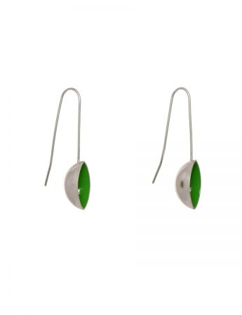Pod Earrings – Dark Green