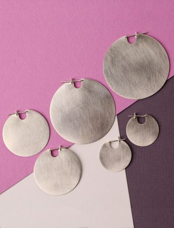 Small U Disc Earrings – Silver