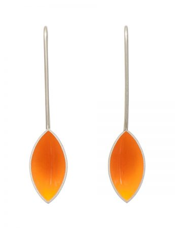Pod Earrings - Light Orange