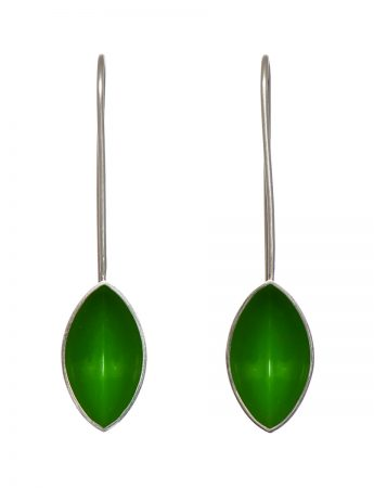 Pod Earrings - Dark Green