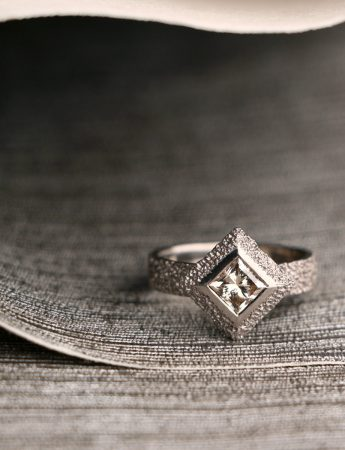 Sunken Pyramid Diamond Ring