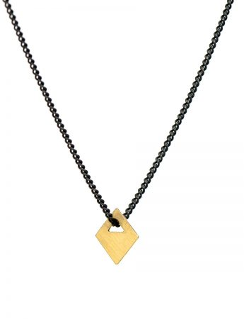Small Square Tab Necklace - 18ct Gold