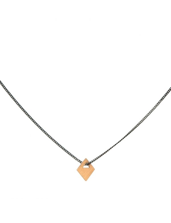 Small Tab Necklace – 18ct Gold