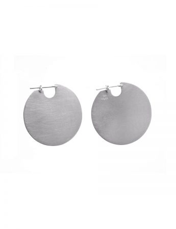 Medium U Disc Earrings - Silver