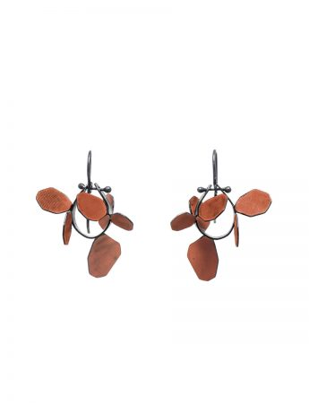 Wattle Earrings - Burnt Orange