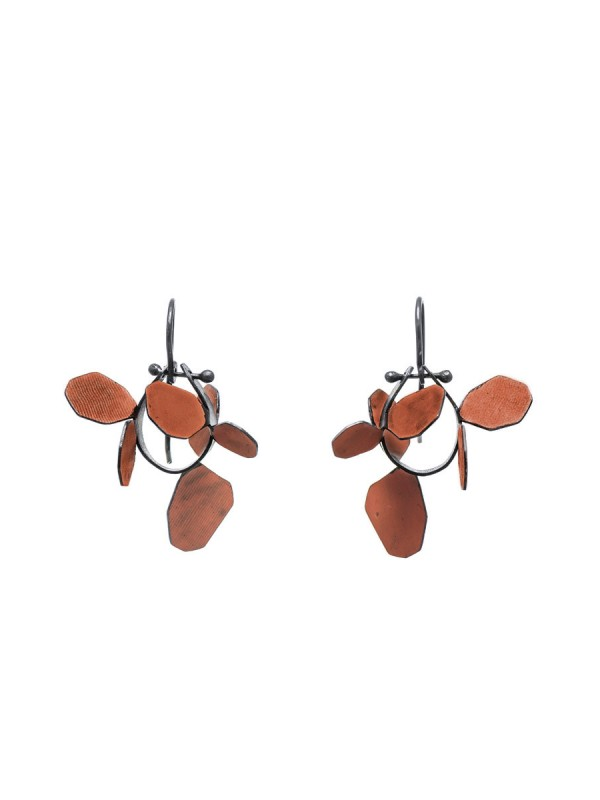 Wattle Earrings – Burnt Orange
