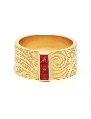 Precious Persia Ring - Gold & Ruby