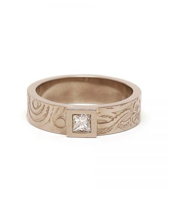Precious Persia Ring - White Gold & Diamond