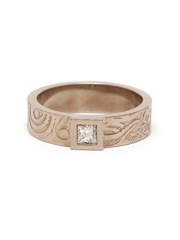 Precious Persia Ring – White Gold & Diamond