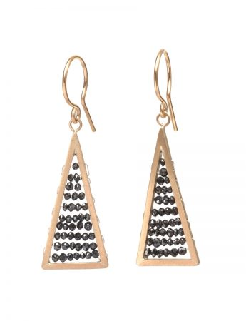 Reef Earrings - Gold & Black Diamond