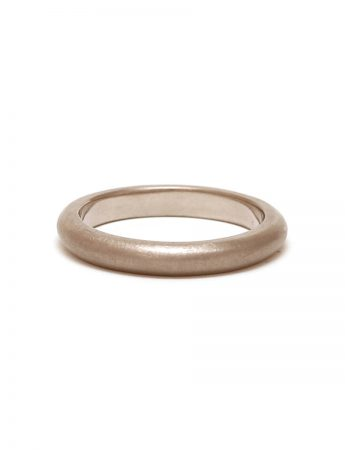 Half Round Ring - White Gold