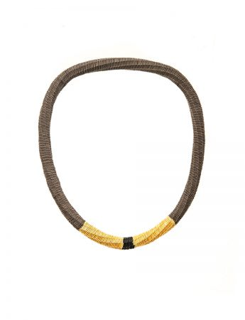 Skinny with Grey, Gold and Black necklace