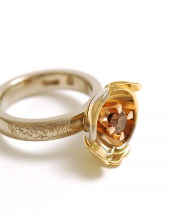 Orange Honey Blossom ring