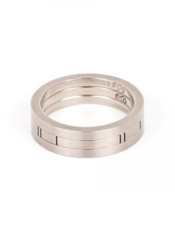 Han - Random Lines Three Stack Ring