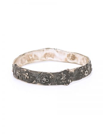 India Bangle - Oxidised Silver