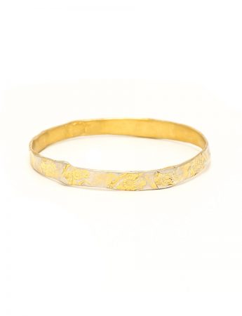Flowers Bangle - Gold Plated