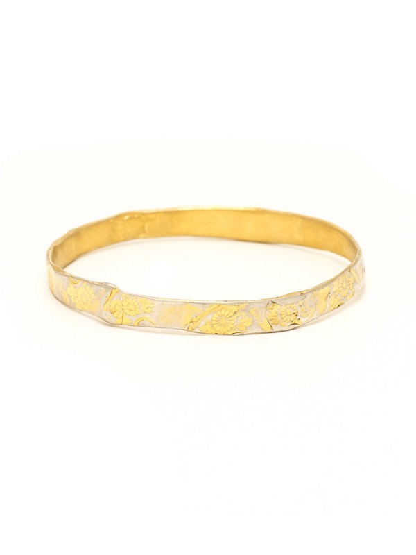 Flowers Bangle – Gold Plated