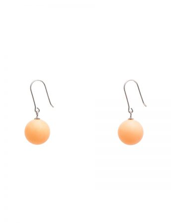 Ball Earrings - Pale Orange