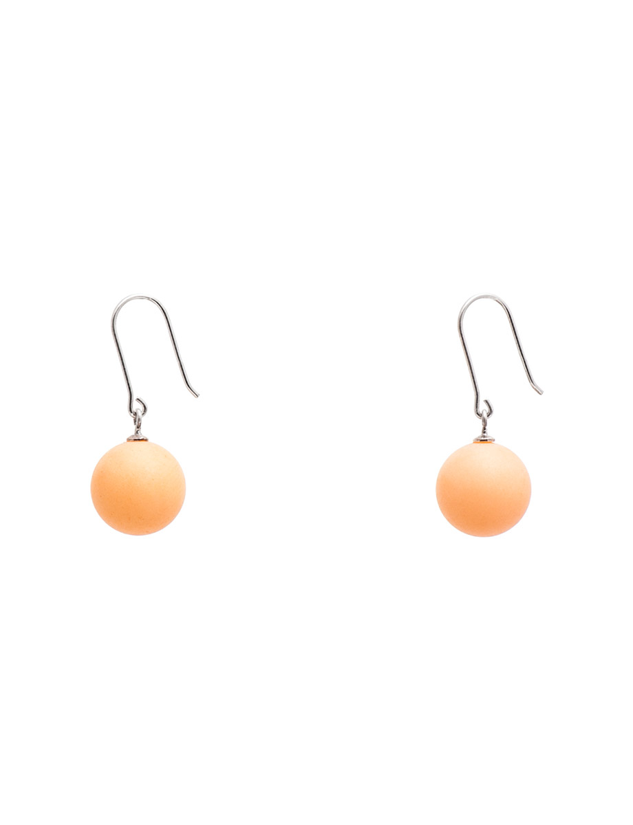 Ball Earrings – Pale Orange